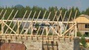 Будівництво двосхилим дахом Своїми Руками Фото