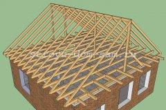Строительство двускатной крыши частного дома своими руками пошагово 8